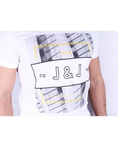 JACK & JONES KOSZULKA BIAŁA YOU TEE