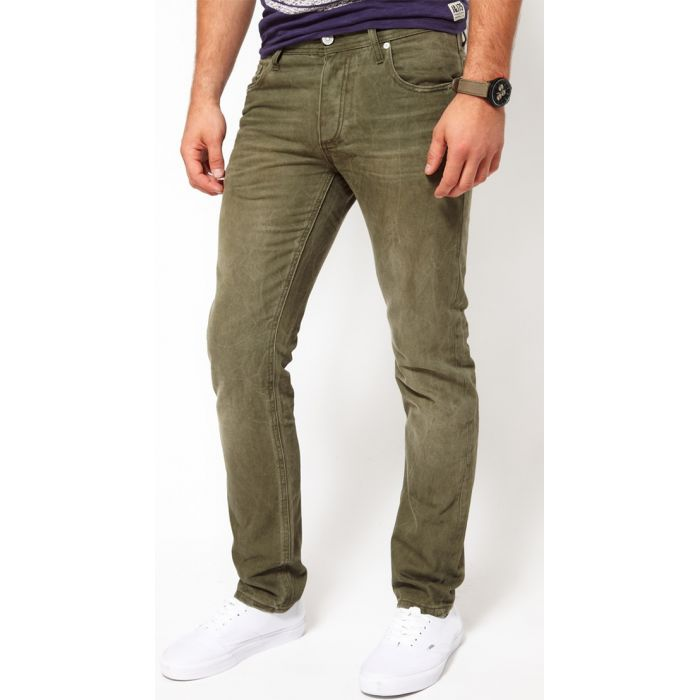 Jack & Jones Oliwkowe Jeansy Tim Original Olive Night