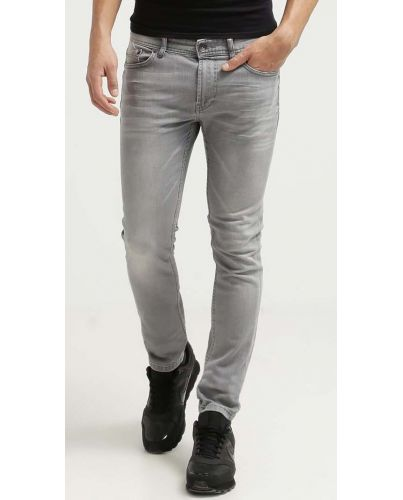 ONLY & SONS SZARE JEANSY ZWĘŻANE AVI SLIM FIT