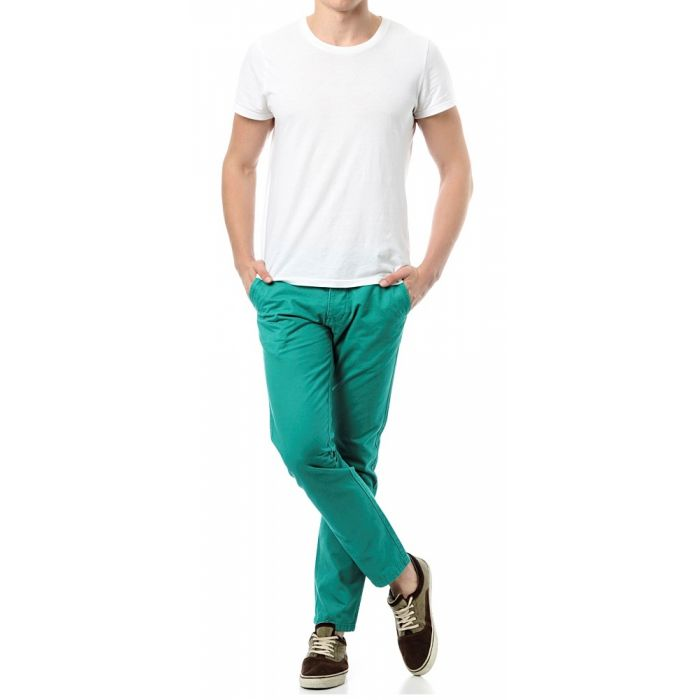 Jack & Jones Chinosy Turkusowe