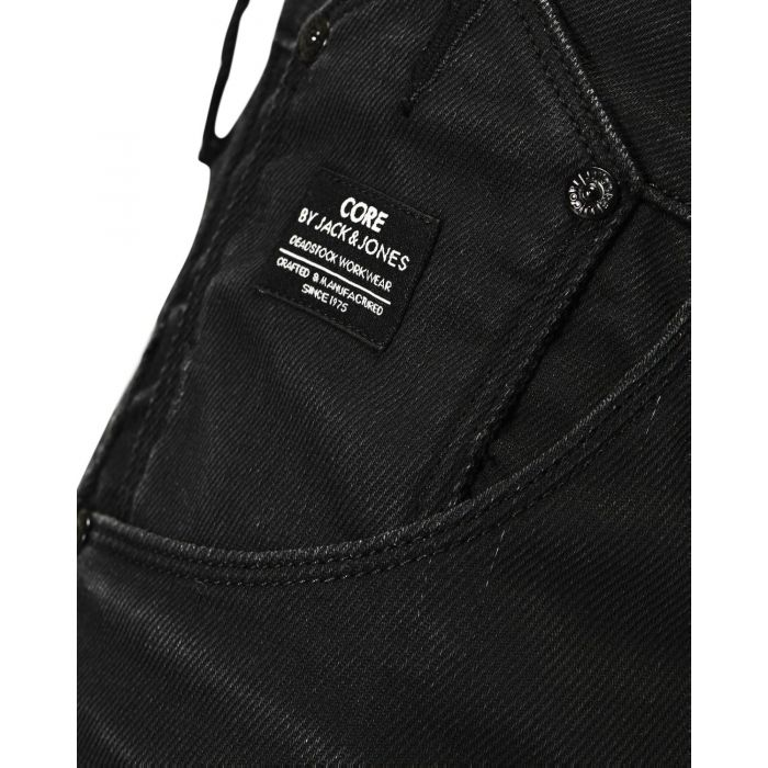 JACK & JONES DROP CROTCH JEANSY CZARNE