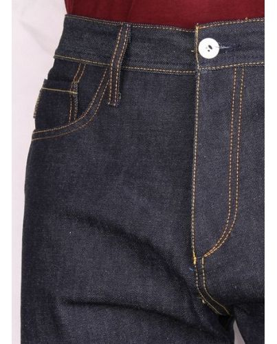 JACK & JONES JEANSY RAW DENIM GRANATOWE 34/32