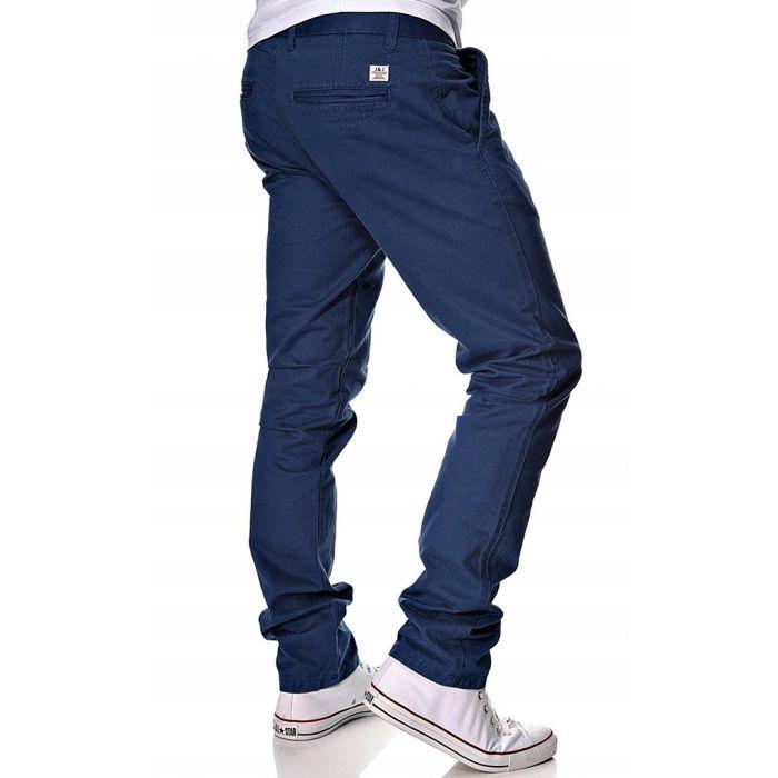 Jack & Jones Chinosy Granatowe Spodnie Męskie