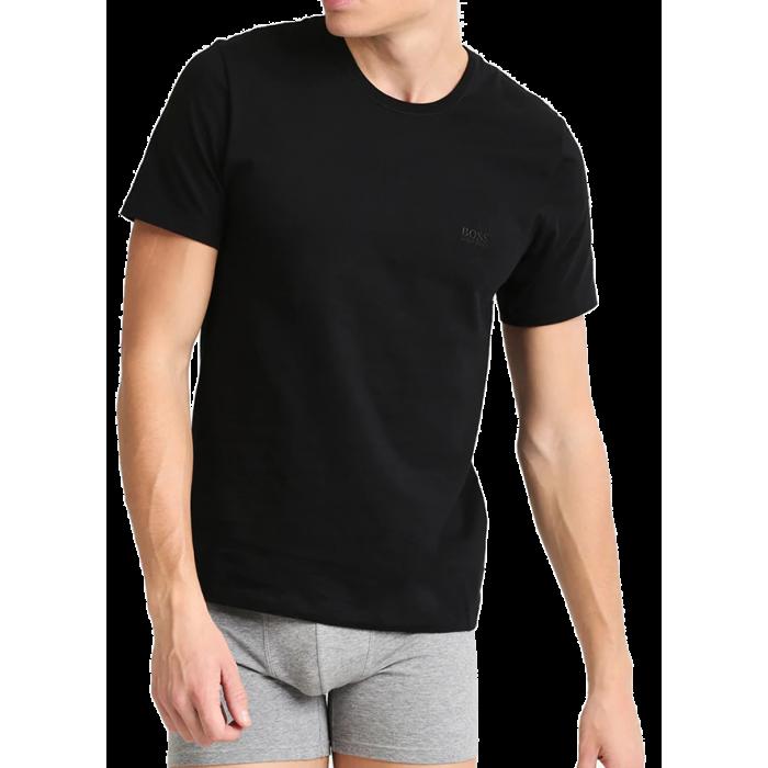 HUGO BOSS Czarna Koszulka O-neck Klasyczna