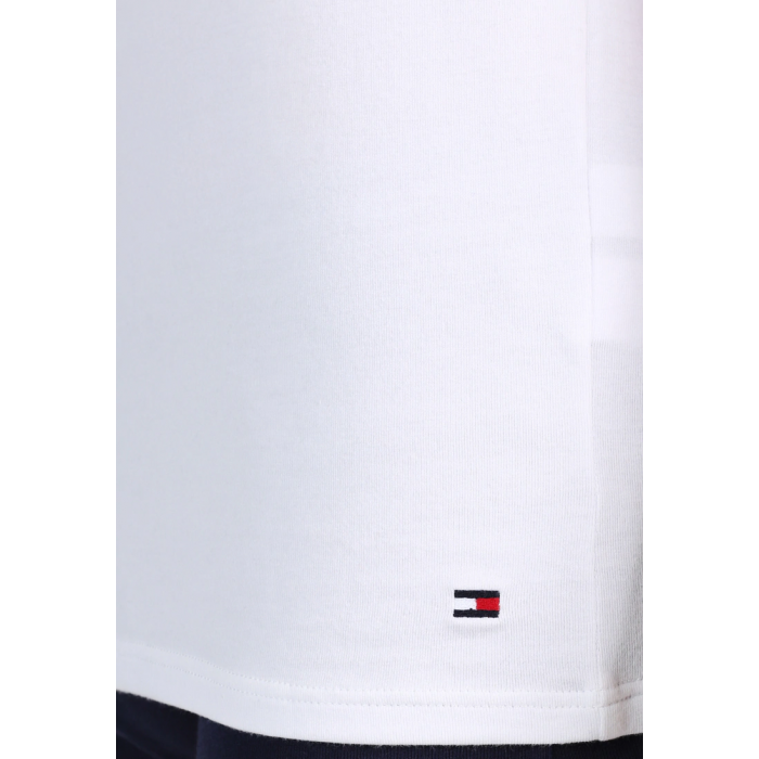 Tommy Hilfiger Biała Koszulka V-neck