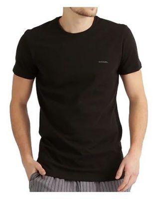 DIESEL Czarna Koszulka O-neck Klasyczna