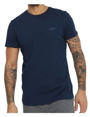 DIESEL Granatowa Koszulka O-neck Klasyczna