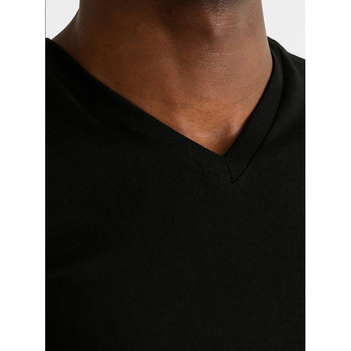 RALPH LAUREN Czarna Koszulka V-neck Klasyczna