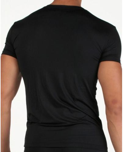 EMPORIO ARMANI Czarna Koszulka V-neck klasyczna