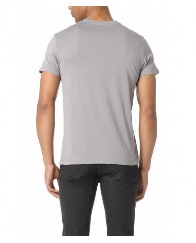 EMPORIO ARMANI Szara Koszulka O-neck klasyczna