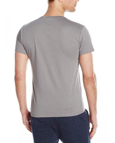 EMPORIO ARMANI Szara Koszulka V-neck klasyczna