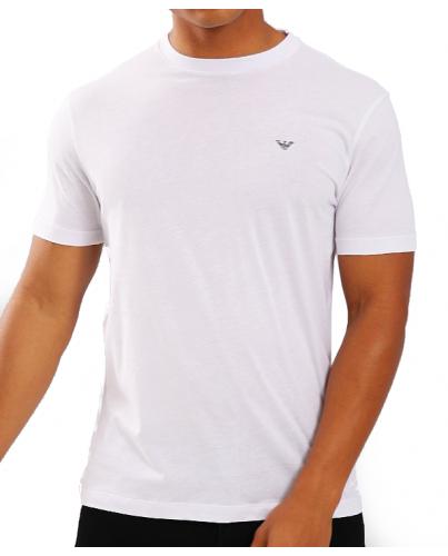 EMPORIO ARMANI Biała Koszulka O-neck klasyczna