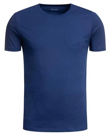 HUGO BOSS Niebieska Koszulka O-neck