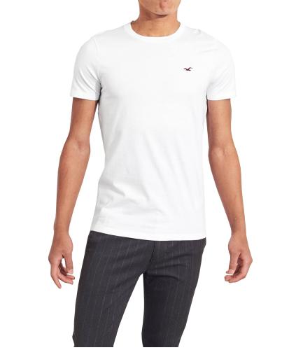 HOLLISTER California White Tshirt Biały O-Neck