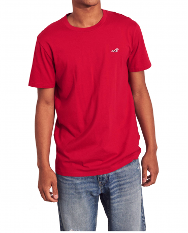 HOLLISTER California Red Tshirt Czerwony O-Neck