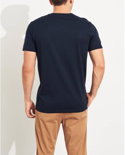 HOLLISTER California Navy Tshirt Granatowy O-Neck