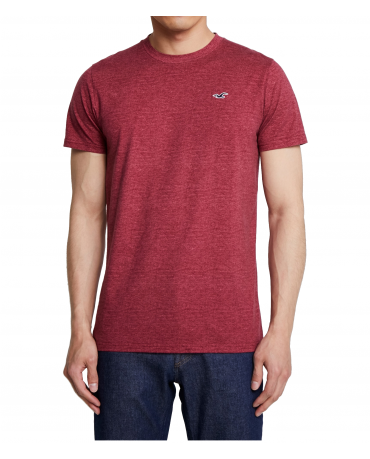 HOLLISTER California Burgundy Tshirt Bordowy O-Neck