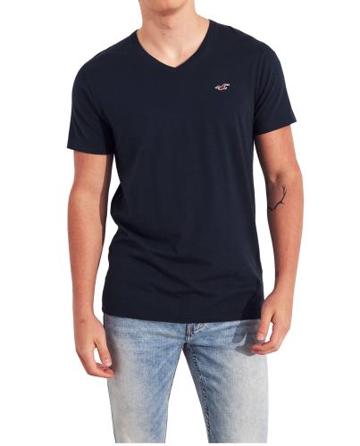 HOLLISTER California Navy Tshirt Granatowy V-Neck
