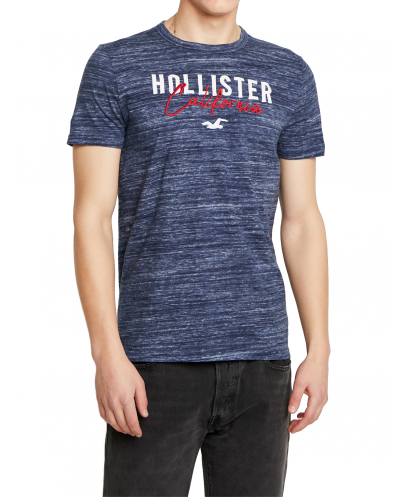 HOLLISTER Navy Tshirt White Red Logo California