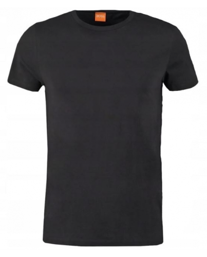 HUGO BOSS Czarny Tshirt O-Neck Klasyczny