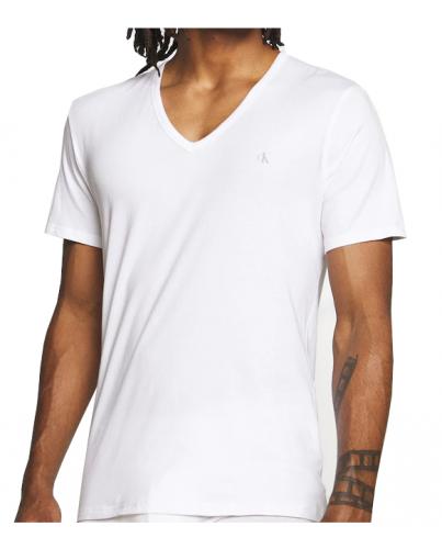 Calvin Klein White V-Neck
