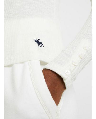 Abercrombie Fitch Bluzka Czarna Haftowane Logo XS
