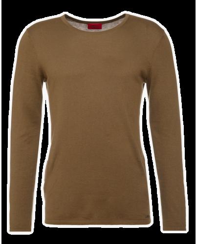 HUGO BOSS Klasyczny Oliwkowy Sweter Męski