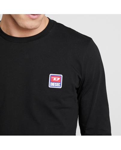 DIESEL Czarny Klasyczny Longsleeve Wszyte Logo