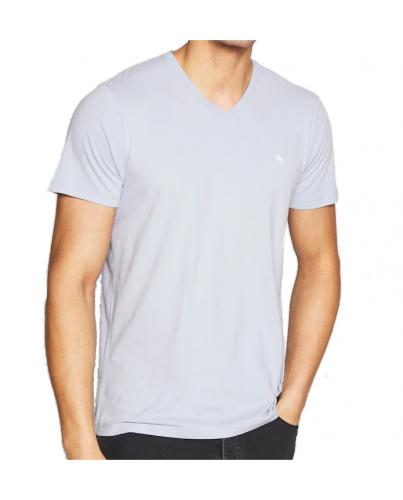 ABERCROMBIE FITCH Jasnoniebieski T-Shirt V-Neck
