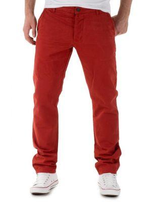 Jack Jones Chinosy Ceglaste Spodnie Męskie