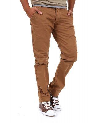 Jack & Jones Chinosy Brązowe Spodnie Męskie