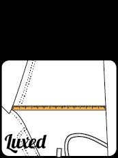 Mierzenie chinosów - rozmiarówka szeokość w udzie, udo chinosy