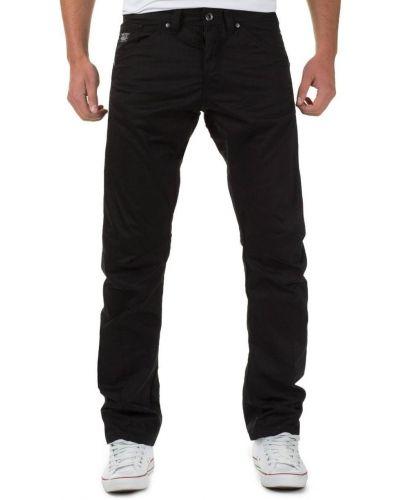 Jack&Jones Czarne Spodnie Materiałowe Luźne Anti Fit
