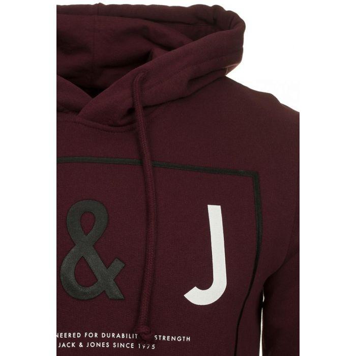 Jack & Jones Bordowa Bluza Noa Port Royal