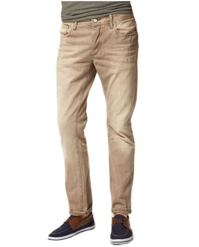 Jack & Jones Beżowe Jeansy Tim Original
