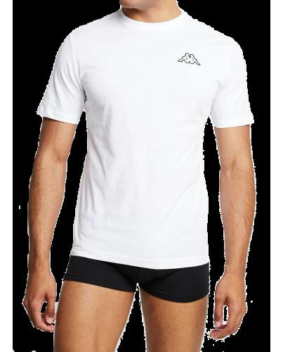 KAPPA Biała Koszulka O-neck Klasyczna