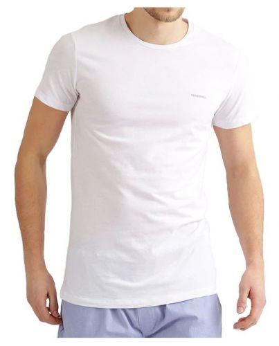 DIESEL Biała Koszulka O-neck Klasyczna
