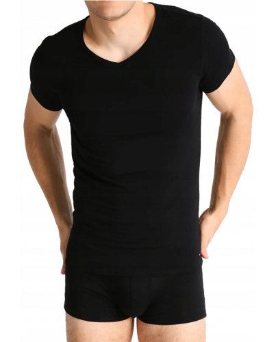 Tommy Hilfiger Czarna Koszulka V-neck
