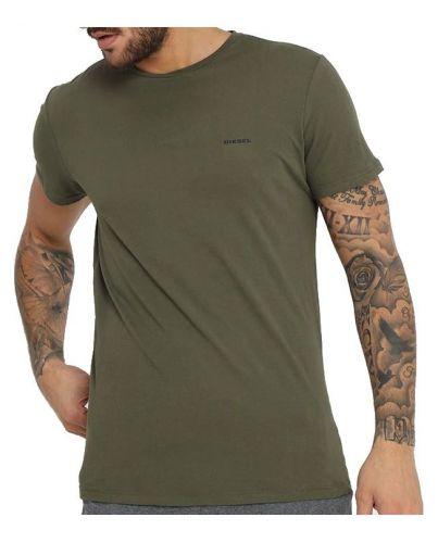 DIESEL Oliwkowa Zielona Koszulka O-neck Klasyczna