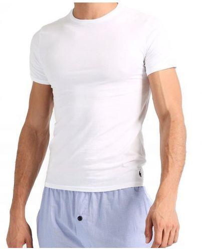 POLO RALPH LAUREN Biała Koszulka O-neck Klasyczna