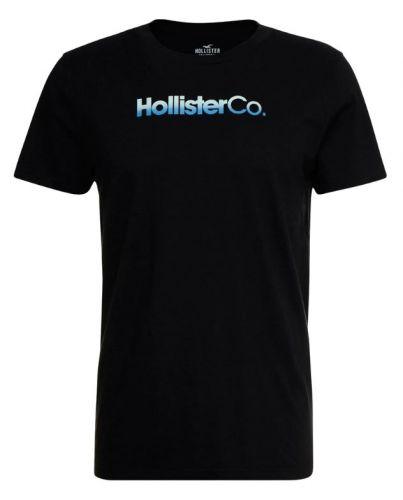 HOLLISTER California Tshirt Męski Nadruk Czarny