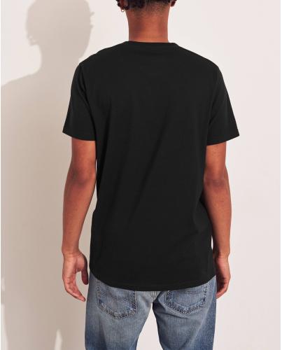 HOLLISTER California Black Tshirt Czarny O-Neck
