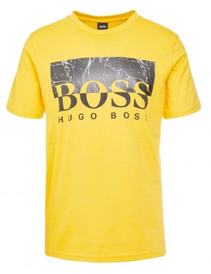 HUGO BOSS Żółty T-Shirt Storm Regularny