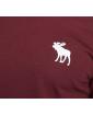 ABERCROMBIE&FITCH Bordowa Koszulka Duże Białe Logo