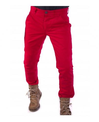 Jack&Jones Chinosy Czerwone Regularny Krój Męskie