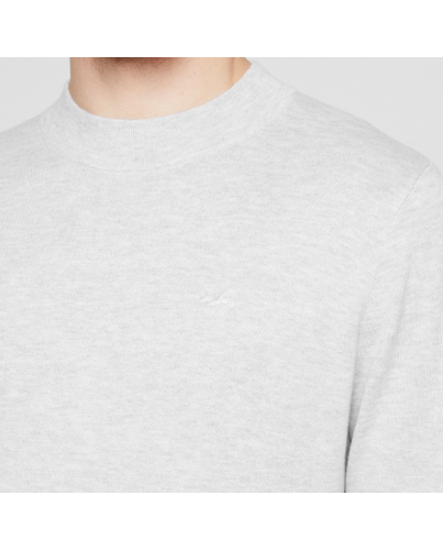 HOLLISTER Light Grey Sweter Męski