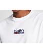 TOMMY JEANS Biały Longsleeve Logo Na Ramieniu