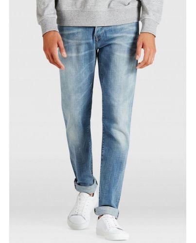 Jack&Jones Niebieskie Jeansy Regular Męskie Kalasyczne