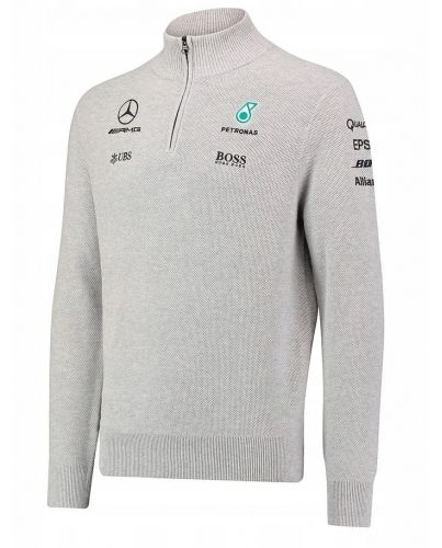 Szary męski sweter HUGO BOSS _ F1 Team AMG _ S