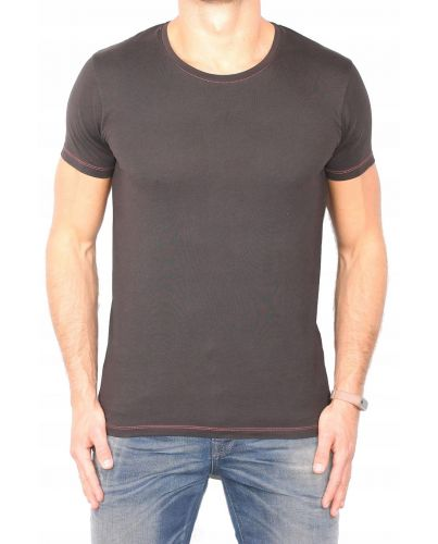 PIMA BAWEŁNA t-shirt Selected Homme BLACK NOWY